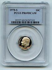 1978 S 10C Roosevelt Dime Proof PCGS PR69DCAM