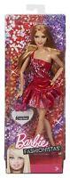 BARBIE FASHIONISTAS SUMMER DOLL Y7491 RED SPARKLE DRESS *NEW*