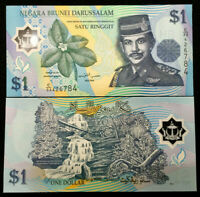 Brunei 1 Ringgit 2007 Polymer Banknote World Paper Money UNC Currency Bill Note