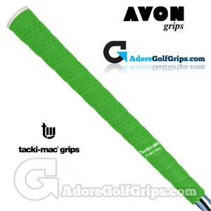 Avon Tacki-Mac Tour Pro Plus Neon Jumbo Grips - Green x 3