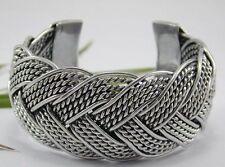 Big Cuff Bracelet size 6-8 Awesome Hand Braided Aluminum Thai