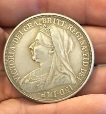 Restrike Victoria One Crown Queen Full Silver Plated 1893 1894 1895-1900 coin