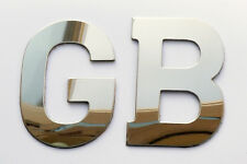 Classic Car Quality Stainless Steel Self Adhesive GB Boot Badge