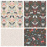 PURRECT PETALS by Lewis & Irene 100% cotton fabric  - cats & paw prints