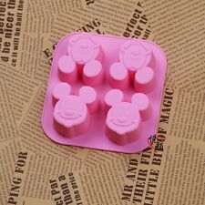 Mickey Face Cake Mold Floral Flexible Silicone Mould For Candy Chocolate Soap