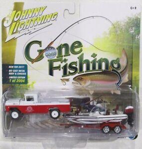JOHNNY LIGHTNING GONE FISHING S2 1959 FORD F-250 w/BOAT & TRAILER #3 B 1/2,004