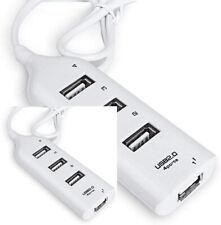 2-USB 2.0 Hi-Speed 4-Port Splitter Hub For PC Notebook High Speed Computer White