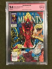 The New Mutants #85 SIGNED BY ROB LIEFELD & Todd McFarlane Cover MARVEL cbcs 9.4