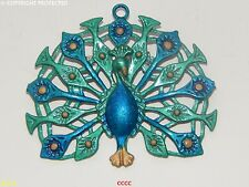 steampunk jewellery brooch badge peacock feathers plumage wings