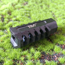 1/2x28 TPI Thread Steel Tactical Muzzle Brake With Crush Washer