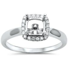 .15cts F VS2 Princess Cut Diamond Semi Mount Engagement Ring Size 6.5