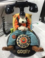 Telemania Vintage Walt Disney Goofy's Animated Talking Corded Telephone Phone