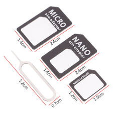 Universal 4 In1 Nano To Micro & Standard Sim Card Adaptor Kit For iPhone Samsung