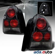 For 1996-2000 Honda Civic 3DR Hatchback JDM Style Black Tail Lights Set