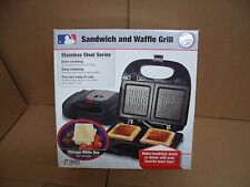 Pangea Brands Chicago White Sox Logo Sandwich and Waffle Grill Official MLB