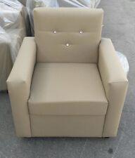 Poltrona divanetto 1posto da ufficio,casa arredo beige con swarovsky realizzabil