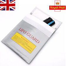 More details for rc lipo battery safety bag safe guard charge fireproof sack 30*23cm silver in uk