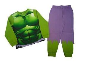 Boys Hulk Kid Pyjamas PJs Character 2pc Age 3 4 5 6 7 8 9 10 Warm Long Sleeve