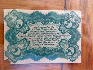 5 Cent Fr 1232-SP  US Fractional Specimen Printed Reverse