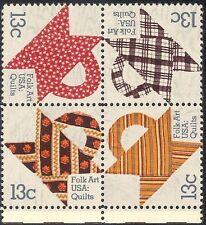 USA 1978 Quilts/Arte/Artigianato/Cucito/la tessitura dei tessili/STOFFA/nero 4 V (n33328)
