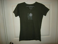 Brand New Misses Dark Gray Life is Good  Shirt, Size S