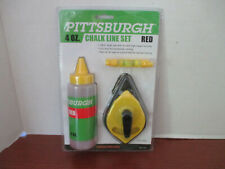 Pittsburgh 4 Oz. Chalk Line Set in Red~New in Package