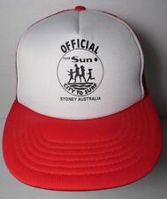 Vtg 1980s OFFICIAL The Sun CITY TO CITY SURF Sydney Australia SNAPBACK HAT CAP