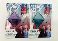 New Set of 2 Frozen II Anna & Elsa Crystal Lip Balms Raspberry and Snowberry YUM