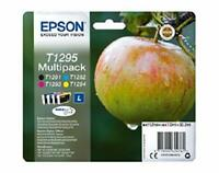 Genuine EPSON T1291 T1292 T1293 T1294 (T1295) Apple Multipack Ink Cartridges Lot