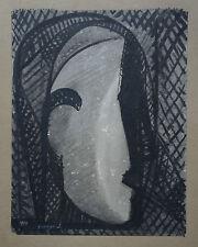 JACQUES GRANGE  (1909/1996) Gouache  - COMPOSITION -   1949 - Signé