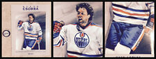 Oilers Csorba Dave Lumley Great Hair Litho Poster 1984-85 Stanley Cup Collection