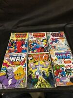 The Infinity War 1 Though 6 Set Avengers Thanos, 9.4 NM, 1992 Marvel
