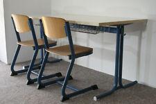 Set Tisch + 2x Kinderstuhl Kinderstühle Schreibtisch Kindergarten Holz blau