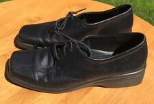 ECCO  Women's Black Leather Lace Up Oxford Shoes Size 40 EU 9.5/10 US