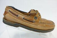 SPERRY TOP-SIDER Swordfish Brown Sz 9 M Men 2-Eye Boat Shoes