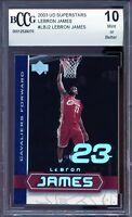 2003 Upper Deck Superstars #LBJ2 LeBron James Rookie Card BGS BCCG 10 Mint