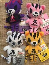 Tokidoki Tiger Plush Doll Keychain Set - Four Colors (4 Pieces)