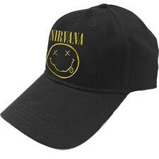 Nirvana 'Smile & Logo' (Noir) Casquette de base-ball - NOUVEAU ET OFFICIEL!