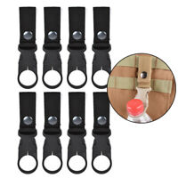 Tactical Nylon Webbing Buckle Key Water Bottle Holder Hook Carabiner Clip Z9A4