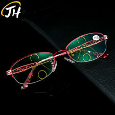 Anti blue ray Multifocal progressive reading & distance for women Half-frames