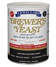 Brewer's Dried Yeast Flakes Powder Without Additives or Preservatives - 12.35 Oz