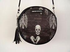 Anatomical Skeleton Black Round Handbag - Bag Clutch Ribs Skull Medical Doctor