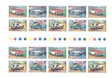 AUSTRALIA DECIMALS 1997 CLASSIC CARS GUTTER STRIP OF 20 SUPERB MNH .