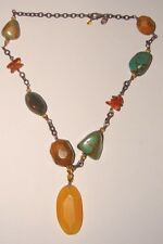 Silpada Sterling Silver Turquoise Amber Chunky Necklace N1296 Retired 925
