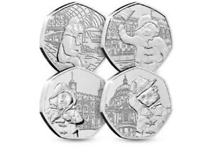 2018/2019 PADDINGTON BEAR 50P FIFTY PENCE FULL SET OF ALL 4 COINS UNCIRCULATED