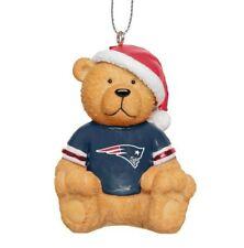 New England Patriots Christmas Tree Holiday Ornament - Jersey Teddy Bear Santa