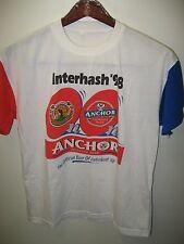 Anchor Beer Tee - Kuala Lumpur Malaysia Hash House Harriers 1998 Run T Shirt Lrg