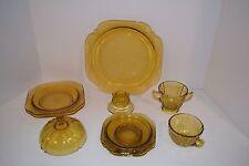 Set of 10 Pcs, Madrid Amber Glass Dinnerware