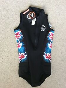 Rip Curl Women G Bomb S/Less Bikini Springsuit Wetsuit WSP7MW Size 10