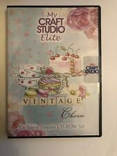 MY CRAFT STUDIO ELITE VINTAGE CHARM EXCLUSIVE DOUBLE CD ROM SET